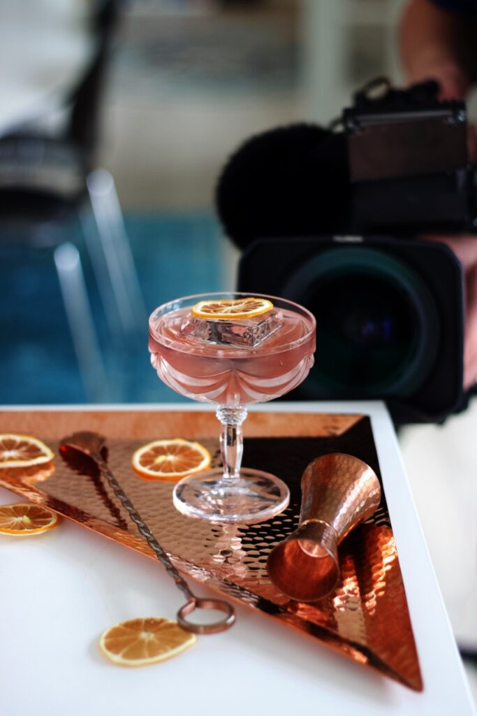 Shooting cocktails for social media